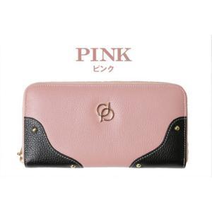 財布 レディース 長財布 ラウンドファスナー 大容量 人気 ブランド   PD36 カラー ピンク|shop-ybj
