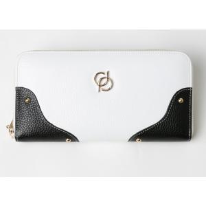 財布 レディース 長財布 ラウンドファスナー 大容量 人気 ブランド   PD36 カラー ホワイト|shop-ybj