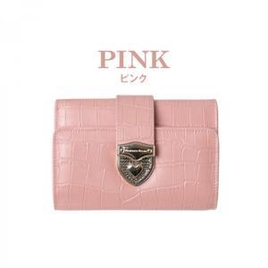 【在庫処分】 財布 折り財布 レディース Provence Dream クロコダイル ピンク 大容量 通勤 可愛い 人気 通学 ビッグサイズ 小銭 PD55