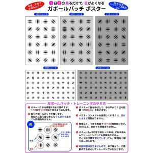ガボールパッチ ポスター 1日3分見るだけで目がよくなるポスター 防水加工 老眼 近視 眼精疲労 でお悩みの方へ shop-yukia