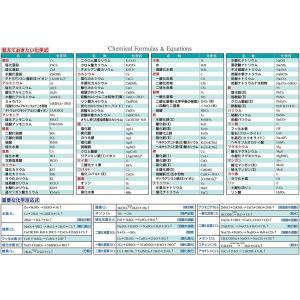 お風呂学習ポスター 受験教材 (化学式一覧表) shop-yukia