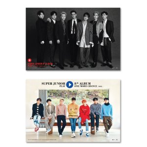 SUPER JUNIOR PLAY 8TH ALBUM POSTER 2枚セット 【発送】【レビューで生写真5枚】|shop11
