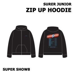 【SUPER SHOW 8|公式グッズ】SUPER JUNIOR ZIP UP HOODIE スーパージュニア フード T-シャツ 【レビュー生写真5枚|宅配便】|shop11
