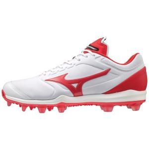 ミズノ 野球 ソフトボール 樹脂 ポイント スタッド スパイク ドミナント3 TPU 11GP202262 ホワイト 白 レッド 赤 グリップ 軽量 クッション性 耐久性|shop310