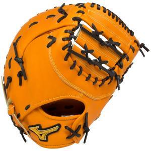 ミズノプロ 限定 軟式 野球 グラブ グローブ ファーストミット フィンガーコアテクノロジー 1AJFR16000 542 ビターオレンジ BSSショップ|shop310