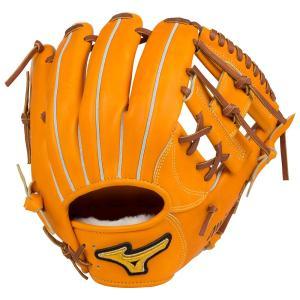 ミズノプロ 限定 軟式 野球 グラブ グローブ 内野手 セカンド ショート タイト設計 フィンガーコアテクノロジー 1AJGR16053 ビターオレンジ BSSショップ shop310