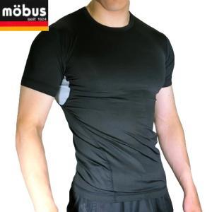 送料無料お試し商品 モーブス エステルベア天竺 半袖切替丸首Tシャツ 黒 70165|shop828