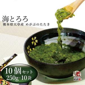 牛深産めかぶのたたき 海とろろ10袋セット(250g×10)芽かぶ/メカブ 冷凍湯通し済み|shopamakusa