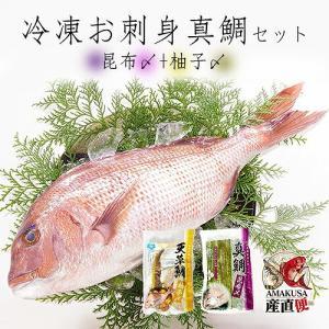 海鮮ギフト 食べ物 送料無料 お刺身用 真鯛昆布〆柚子〆セット(冷凍)お礼・御祝・お返し※のし対応|shopamakusa