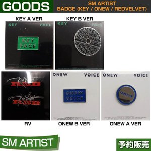 [SM ARTIST BADGE] SHINee(2Type) onew / key / REDVELVET / SUM DDP / 1901sn /1901rv / 1次予約