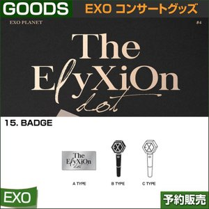 15. BADGE / EXO THE PLANET#4 OFFICIAL GOODS / 1807exo /2次予約