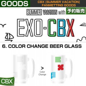 6. COLOR CHANGE BEER GLASS / CBX [SUMMER VACATION] FAN GOODS / 1808cbx /1次予約|shopandcafeo