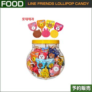 LINE FRIENDS LOLLIPOP CANDY 60個入/ 7ELEVEN / LOTTE /1次予約|shopandcafeo