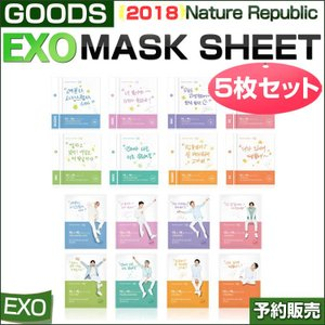 EXO MASK SHEET x 5sheet / EXO EDITION / Nature Republic /1次予約 / 送料無料|shopandcafeo