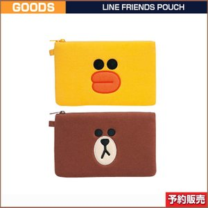 LINE FRIENDS POUCH ポーチ 即日発送 (ゆうパケット発送の為代引き不可)|shopandcafeo