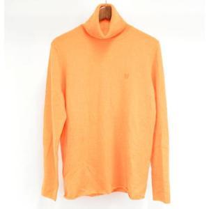 lucien pellat-finet(ルシアンペラフィネ)ワンポイント スカル タートルネック セーター ニット オレンジ|shopbring