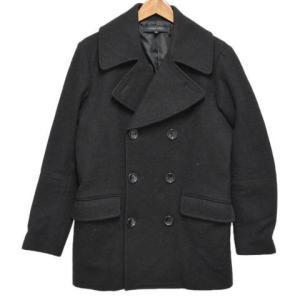 MAIN VEIN(メインベイン)メルトンウールPコート ブラック shopbring