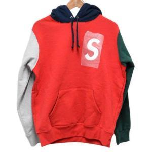 SUPREME(シュプリーム)19SS S Logo Colorblocked Hooded Sweatshirt Sロゴ カラーブロックド プルオーバーパーカー レッド×グリーン×グレー|shopbring