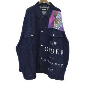 RAF SIMONS(ラフ シモンズ)Oversized Printed Denim Jacket New Order オーバーサイズドデニムジャケット インディゴ|shopbring