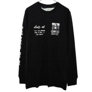OFF-WHITE(オフホワイト)19SS MONALISA L/S TEE モナリザプリントTシャツ ブラック|shopbring