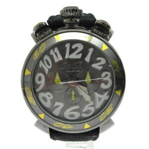 GaGa MILANO(ガガミラノ)マヌアーレ MM48 デニムベルト 腕時計 ブラック|shopbring