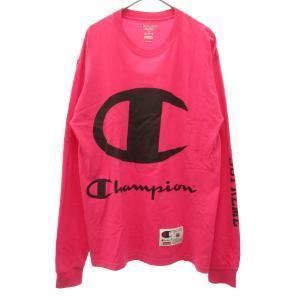 SUPREME(シュプリーム)17SS ×チャンピオン Champion Champion L/S Tee フロントロゴプリント長袖カットソー|shopbring
