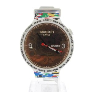 A BATHING APE(アベイシングエイプ)Bape swatch TOKYO WHITE MULTI CAMO マルチカラー腕時計ウォッチ ホワイト|shopbring
