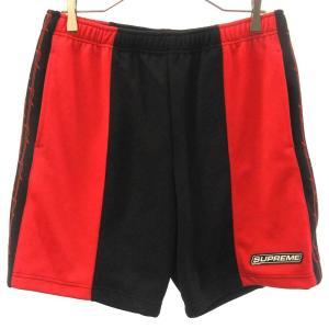 SUPREME(シュプリーム)19SS Barbed Wire Athletic Short 有刺鉄線サイドライン バイカラー ハーフパンツ ブラック/レッド|shopbring