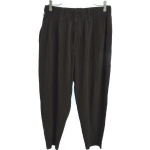 HOMME PLISSE ISSEY MIYAKE(オム プリッセ イッセイ ミヤケ)Pleated Pants HP93JF225 ストレートプリーツパンツ ブラウン|shopbring