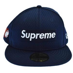 SUPREME(シュプリーム)18SS ×New Era Mesh Box Logo Cap ニューエラ メッシュ ボックスロゴ キャップ ネイビー 帽子|shopbring