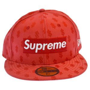 SUPREME(シュプリーム)18SS ×NEW ERA Monogram Box Logo Cap ニューエラ ドル総柄ボックスロゴキャップ レッド 帽子|shopbring