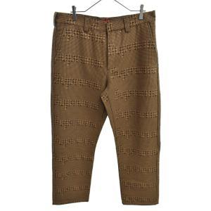 SUPREME(シュプリーム)20AW Work Pants BROWN HOUNDSTOOTH 千鳥格子柄 ウールワークパンツ ブラウン|shopbring