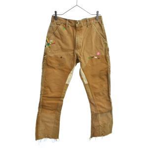 GALLERY DEPT.(ギャラリーデプト)Pants-Construction FLAREペイント加工 カーペインターフレアパンツ ブラウン/ベージュ|shopbring