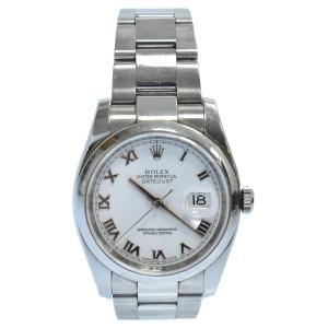 ROLEX (ロレックス) デイトジャスト36 G番 SS/AT ホワイトローマン文字盤 ローマインデックス 116200 腕時計|shopbring