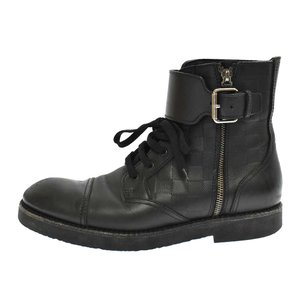 LOUIS VUITTON(ルイヴィトン)ダミエ アンクルベルト サイドジップ ブーツ FD0133 ブラック|shopbring
