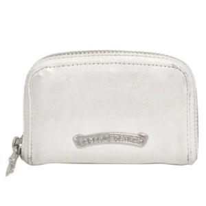 CHROME HEARTS(クロムハーツ)ダガー ラウンドジップ ホワイトレザーコインケース 財布|shopbring