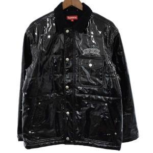 SUPREME(シュプリーム)18SS Quilted Patent Vinyl Work Jacket キルティングパテントビニールワークジャケット|shopbring