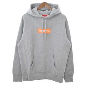 SUPREME(シュプリーム)17AW Box Logo Hooded Sweatshirt ボックスロゴプルオーバーパーカー グレー|shopbring