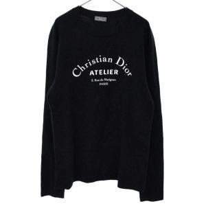 Dior(ディオール)ATELIER アトリエ フロントロゴプリント ウールシルク混 クルーネックセーター|shopbring