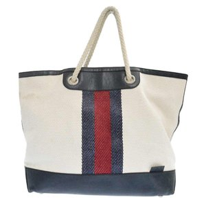 GUCCI(グッチ)Canvas Web Leather XL Open Tote 281910 213048 キャンバスレザー切り替え センターライントートバッグ|shopbring