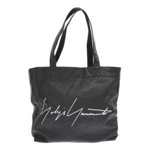 Yohji Yamamoto(ヨウジヤマモト)青山店限定ノベルティ レザートートバッグ 大 ブラック|shopbring