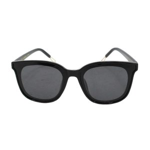 GENTLE MONSTER(ジェントルモンスター)FLATBA papas スモークレンズブラックフレームサングラス メガネ 眼鏡 ゴールド|shopbring