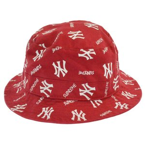 SUPREME(シュプリーム)15SS Crusher Hat ニューヨークヤンキース47ブランドクラッシャーバケットハット 帽子 レッド|shopbring