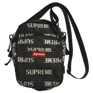 SUPREME(シュプリーム)16AW Reflective Repeat Logo Shoulder Bag  リフレクティブリピートロゴショルダーバッグ ポーチ ブラック|shopbring