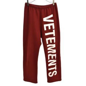 VETEMENTS(ヴェトモン)18AW ロゴプリントスウェットロングパンツ WAH19PA107|shopbring