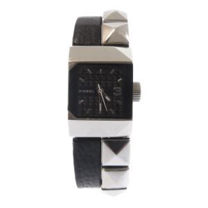 DIESEL(ディーゼル)レザースタッズツインベルトデザイン リストウォッチ 腕時計|shopbring