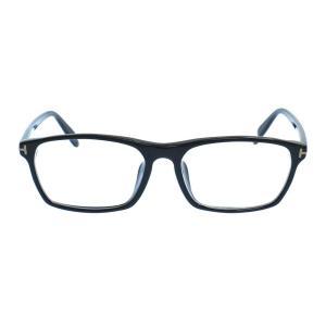 TOM FORD (トムフォード) スクエアフレーム TF4295 クリアレンズアイウェア サングラス 眼鏡 ブラック|shopbring