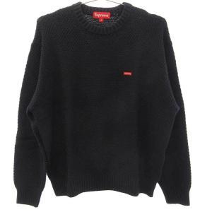 SUPREME (シュプリーム) 20AW Textured Small Box Sweater スモールボックスロゴニットセーター ネイビー|shopbring