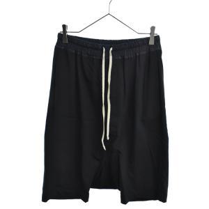 Rick Owens(リックオウエンス)14AW drop crotch shorts ウール混ショートサルエルパンツ ブラック RU14F2384 ショーツ|shopbring