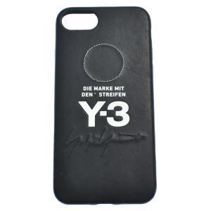 Y-3 (ワイスリー) レザー刺繍 iPhoneケース 6/6S/7/8 アイフォンケース ブラック|shopbring